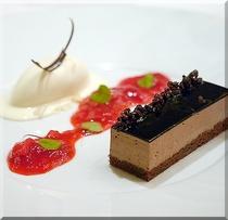 チョコレートムースと塩のアイス