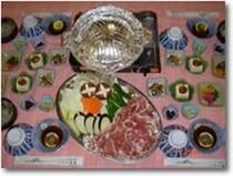 夕食の一例(ジンギスカン)