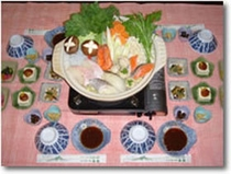 夕食の一例(海鮮鍋)