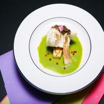 平成29年 春 桜鯛と筍、うすい豆のソース