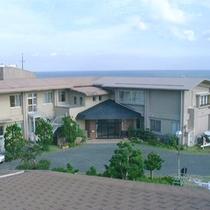 【外観】太平洋を望む小さい宿