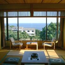 【海が見える客室一例】眺めの良いお部屋でごゆっくりお寛ぎください