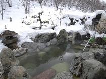◆冬の露天風呂◆自然の風景となめらかなお湯は、ご旅行や仕事で疲れた体を癒すのに最適です。
