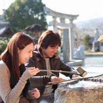 【湯郷温泉★咲くLOVEプラン】特典①縁結びの神様が祀られる「湯神社」へGO!
