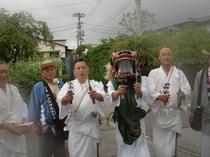 *湯立獅子舞[仙石原神楽保存会]