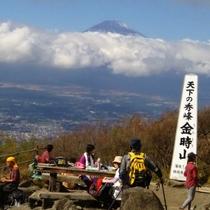 *【金時山山頂より】天気が良ければ、遠く富士山を望むことが出来ます!