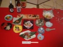三宝うえきの寿司懐石料理の一例です。