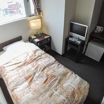 *客室/スモールシングル。小さめのお部屋です。1人旅や出張にぴったり!