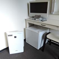 *客室/フロントで空気清浄機の貸し出しをしております♪