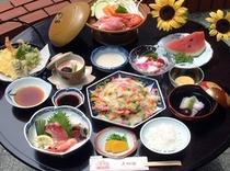 夏の会席料理(例)