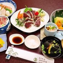 <お食事>夕食/高知名物!鰹のタタキ御膳※一例