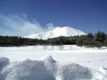 景色(冬の浅間山)