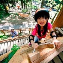 軽井沢おもちゃ王国「わくわく大冒険の森」(クライミングウォール)