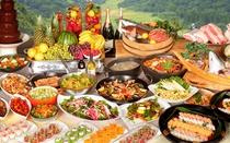 種類豊富なディナーグルメバイキング★握り寿司、鉄板焼き、天麩羅、地産地消の信州メニューも!