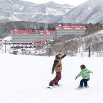家族で楽しめる白馬コルチナスキー場初級者コース