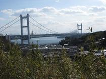 「風の道」から見える瀬戸大橋