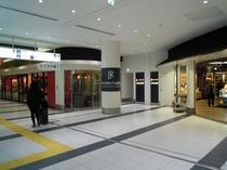 鹿児島中央駅改札口より直結 改札口を出て左へ