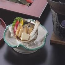 上生寿司・鮑・ノドグロ・蟹グルメプラン(アワビバター焼き)