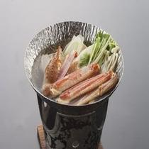 海鮮三昧プランのカニ鍋です!