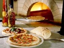 本格的なピザ窯