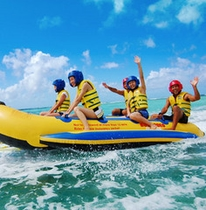 ドラゴンボートで青い海を楽しもう♪