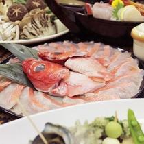 *ご夕食一例/金目鯛のしゃぶしゃぶ