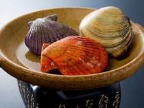 ひおうぎ貝と大あさりの焼き物