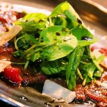 ☆料理_夕食_鹿刺しのカルパッチョ