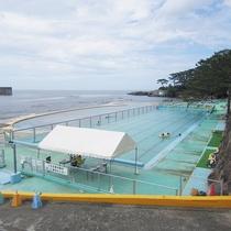 長崎鼻公園プール(日本海に面した海水プール)