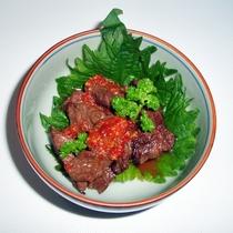 *【夕食一例】馬肉焼