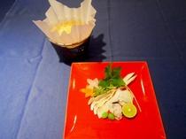 鱧と松茸の土瓶蒸し風鍋(一例です)