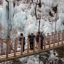 【尾の内渓谷の氷柱】 1月~2月 車で約30分