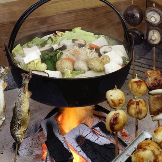 囲炉裏料理一例 写真提供:楽天トラベル