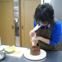 ケーキはすべて手作り