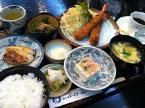 海老フライ定食