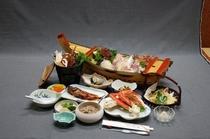 旬の味覚と姿造り舟盛付プラン(料理の1例)