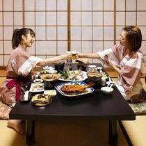 朝・夕食共にうれしいお部屋食♪