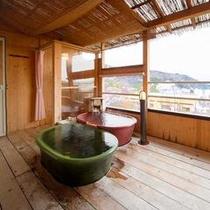 お部屋に付いた露天風呂(一例)