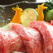「但馬牛ステーキ」の一例。