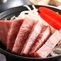 但馬(たじま)牛ステーキの一例