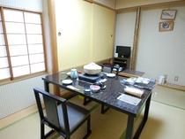 個室のお食事処の一例