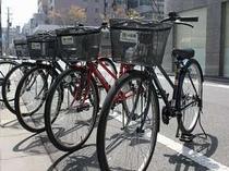 超人気の無料レンタサイクル!京都観光にご利用ください。