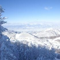 冬の志賀高原絶景