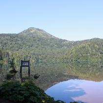 ■【夏】大沼池。水面に映る山々がとても綺麗です