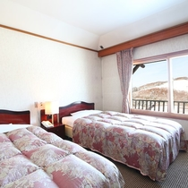 ■【らいちょう館■最上階和洋室】冬はゲレンデを眺めながら。ゲレンデはすぐそば!