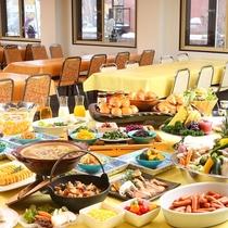 ■【朝食バイキング】朝から盛り沢山!お腹いっぱい食べて今日も元気