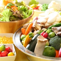 ■【朝食バイキング】野菜もいっぱい!もりもりどうぞ