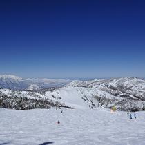 ■広大な志賀高原のスキー場