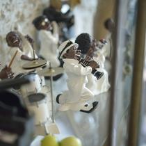 ■館内には様々な音楽人形が飾られています。アメリカンな人形も。