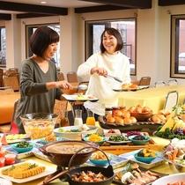 ■【朝食バイキング】テンションが上がります!
